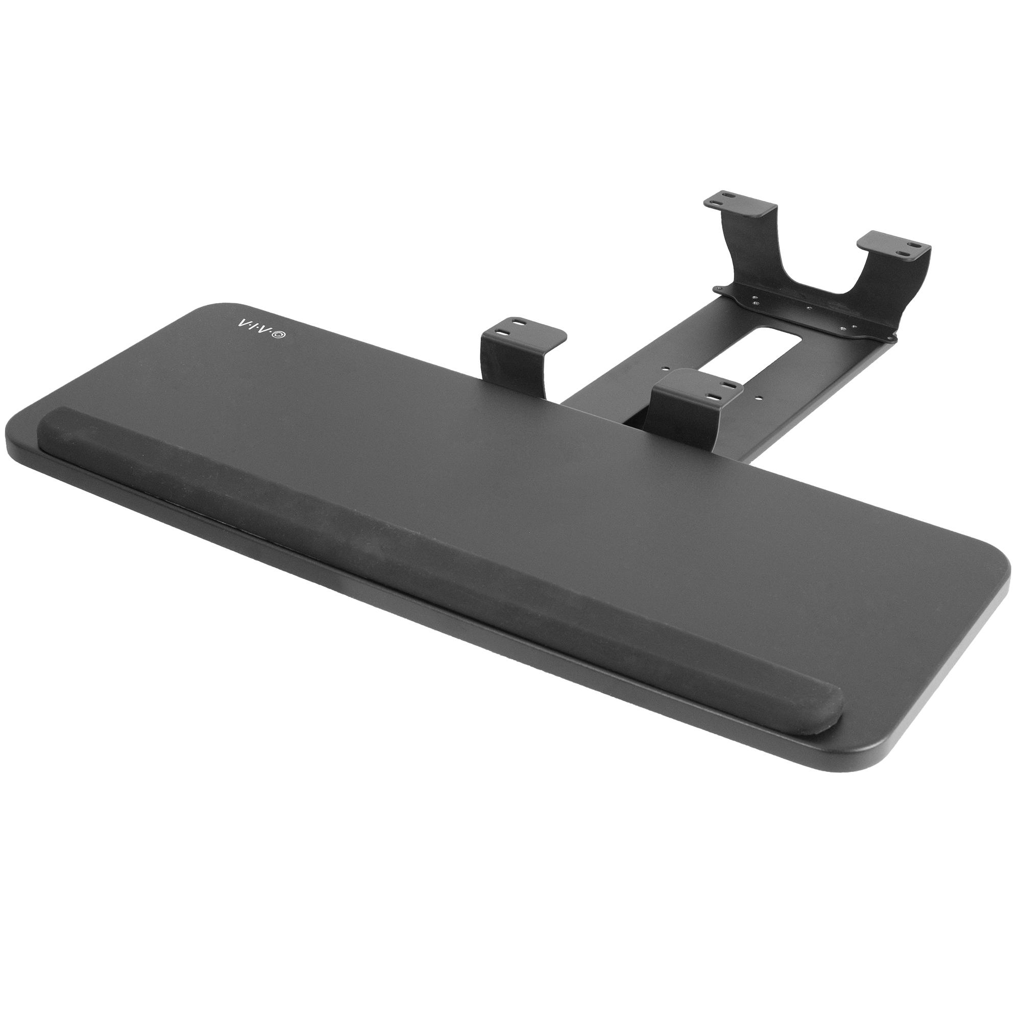 Ergonomic Under Desk Platform and Spacer Bracket Combo MOUNT-KB03B-KIT1 VIVO Adjustable Keyboard /& Mouse Tray with Dual Height Track Spacer Brackets